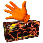 Orange Lightning Nitrile Gloves - Box (50 Pairs) - Medium