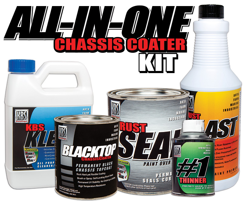 all in one chassis paint kit kbs all in one chassis kit frame