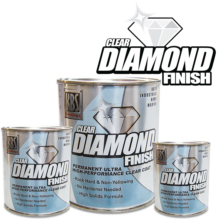 DiamondFinish Clear - Clear Coat - Non-Yellowing - High Gloss