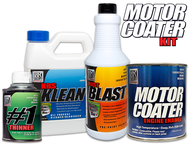Rust Prevention Spray >> Motor Coater Engine Paint Kit - Engine Paint - Engine Enamel - KBS Coatings