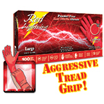Red Lightning Nitrile Gloves