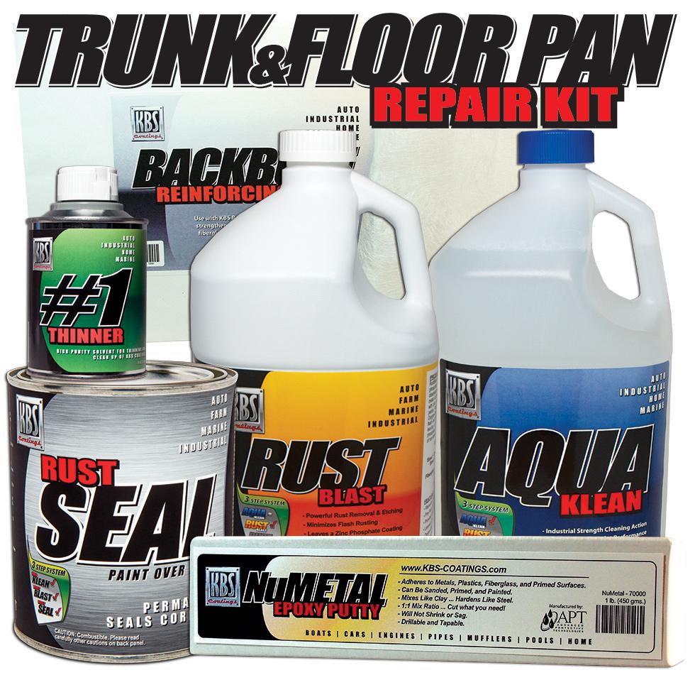 Trunk and Floorpan Repair Kit - Stop Rust - RustSeal - KBS Coatings